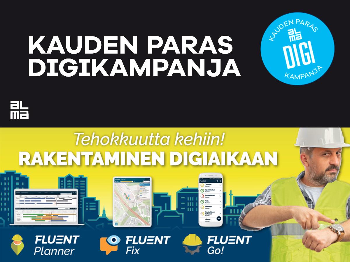 Almamedian kauden paras digikampanja | Fluent Progress